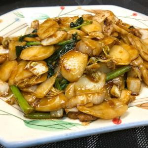 403. Fried Rice Cake w/ Greens and Shredded Pork Shanghai Style 上海炒年糕