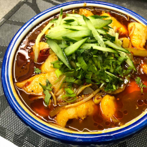 99. Spicy Numbing Braised Fish with Bean Sprouts 水煮魚片