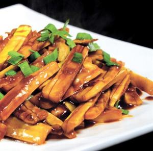 347. Stewed Bamboo Vegetable Chengdu Style 成都素燴