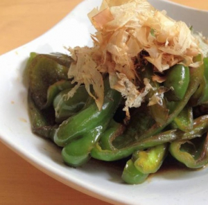 351. Braised Shredded Green Pepper and Ong Choy with Pickled Beancurd Sauce