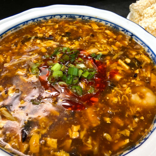 303. Crispy Rice w/ Hot & Sour Sauce 酸辣鍋粑