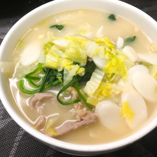 435. Rice Cake in Soup Shanghai Style 上海湯年糕