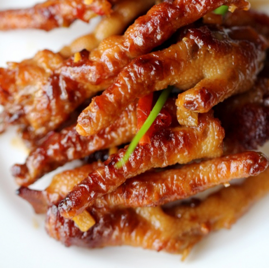 Braised Pork Bellies or Duck Feet with Rice Wine Sauce