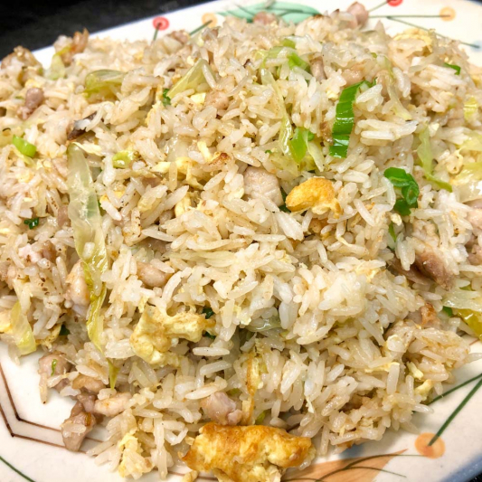481. Stir-Fried Rice w/ Vegetable Sally Fish & Diced Chicken 鹹魚雞粒青菜炒飯