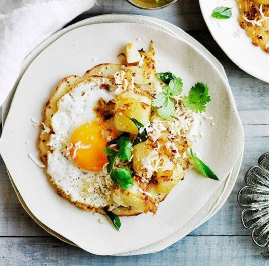 285. Fried Eggs with Pickled Turnip