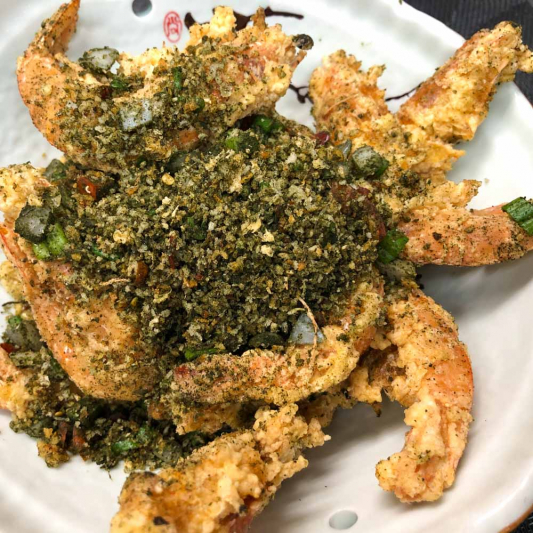 93. Fried Shrimp w/ Spiced Seaweed Salt 苔香椒鹽蝦