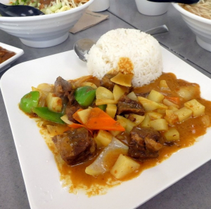 2. Beef with Potato Stew on Rice