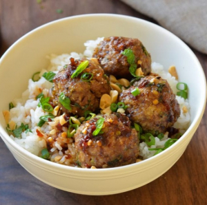 19. Stewed Pork Balls with Soy Sauce on Rice