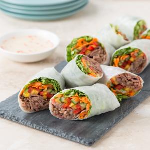 A4. B.B.Q. Pork Salad Rolls (4 pcs)