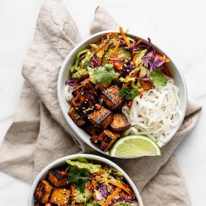 S12. Tofu Lemongrass on Rice or Noodles