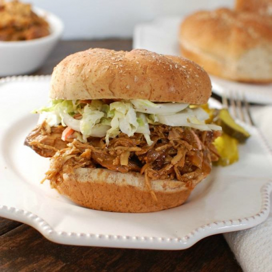 V4. B.B.Q. Pulled Chicken with Cheese