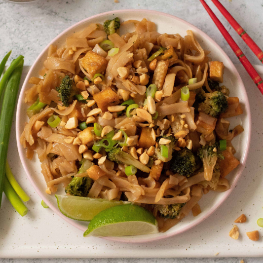 S9. Veggies and Tofu on Rice or Noodles