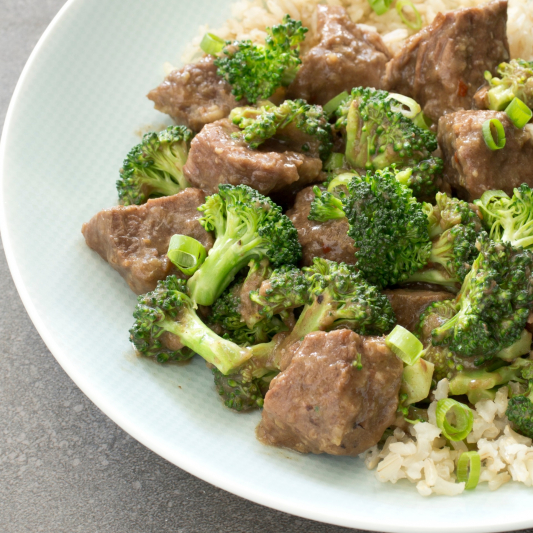 M05. Beef and Broccoli on Rice