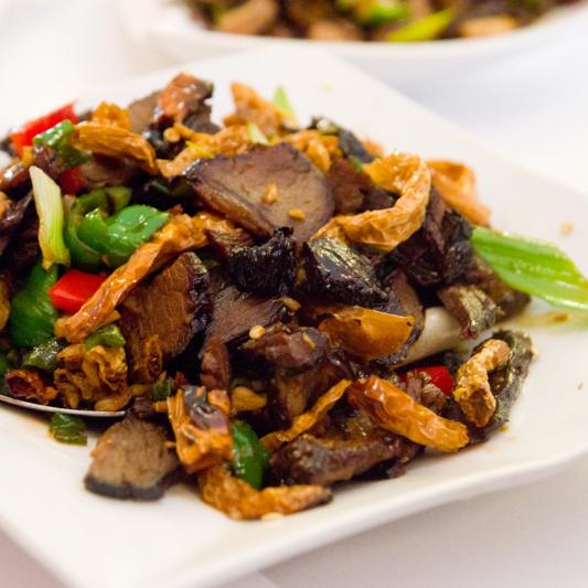 E06. Stir Fried Pork with Hunan Pickles