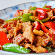 Fried Pork with Green Chili 农家小炒肉