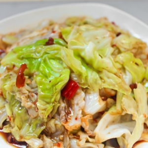 Hunan Style Cabbage with Chili 手撕包菜