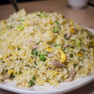 Salted Fish and Chicken Fried Rice 咸鱼鸡粒炒饭