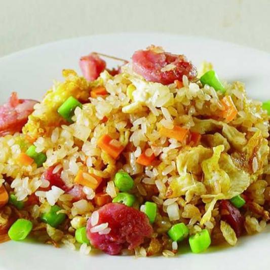 Hunan Fried Rice with Sausage and Egg 香肠蛋炒饭