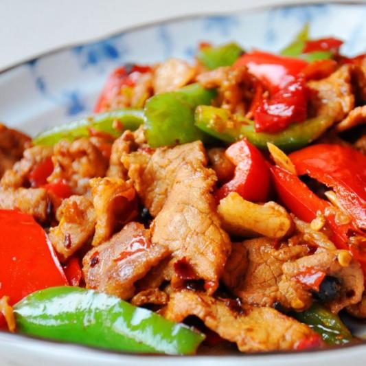 Fried Pork with Green Chili 农家小炒肉