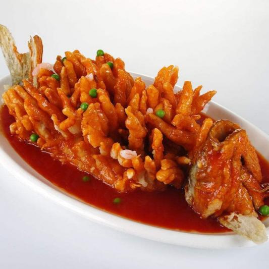 Sweet and Sour Squirrel Mandarin Fish 酸甜松鼠鱼
