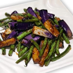5. Braised Eggplants & Green Bean