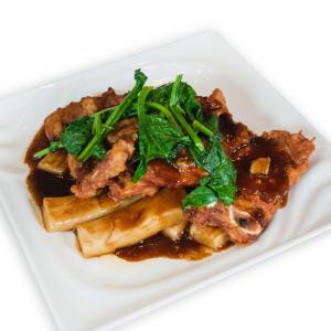 13. Pork Chop with Rice Cakes 排骨牛糕