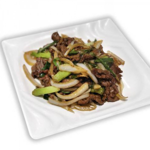 11. Stir-Fried Beef with Scallion & Ginger 蔥爆牛肉