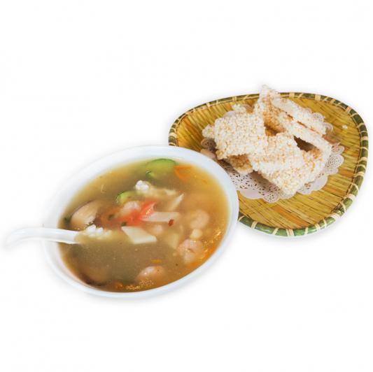 1. Seafood Crispy Rice 海鮮鍋巴