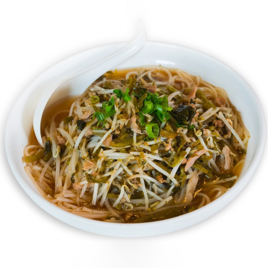 18. Shredded Pork with Snow Cabbage or Pickled Mustard Noodle Soup 雪菜/榨菜 肉絲湯麵
