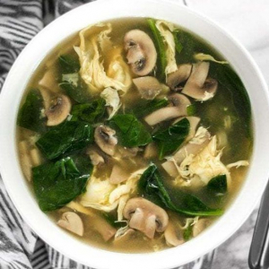 Mushroom and Egg Swirl Soup