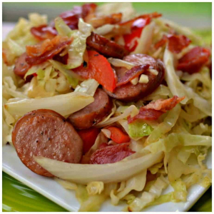 Sauteed Cabbage & Chinese Sausage