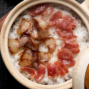 Chinese Sausage with Clay Pot Rice