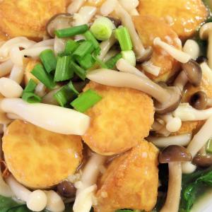 116. Egg Tofu with Enoki Mushroom and Dry Scallop