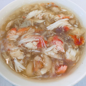 1. Crab Meat and Fish Maw Soup