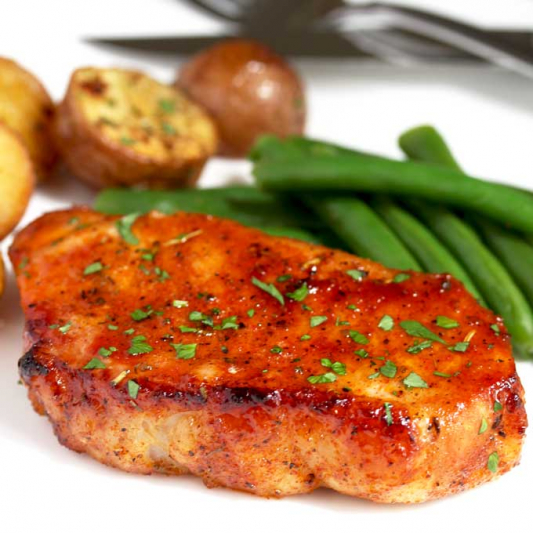 113. Baked Pork Chop with Herbs