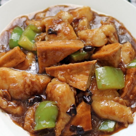 83. Deep Fried Fillet of Cod in Black Bean Sauce