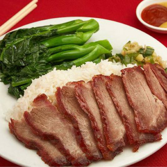 66. BBQ Pork with Steamed Rice and Vegetables 時菜叉燒飯
