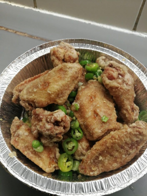 4. Spicy Garlic Chicken Wings