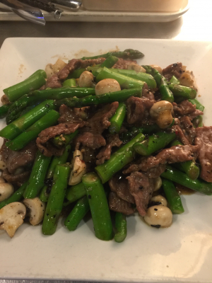63. Beef Asparagus with Black Bean Sauce