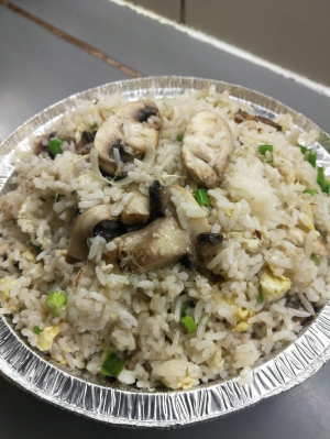 115. Fresh Mushrooms Fried Rice