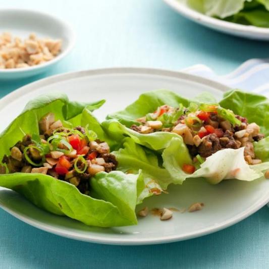 12. Minced Beef Lettuce Wrap