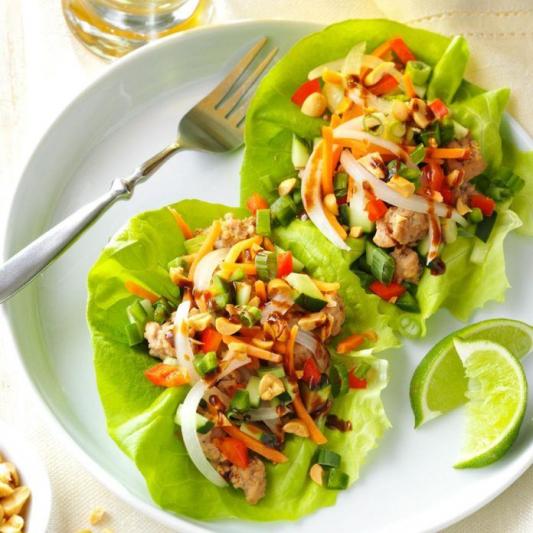 13. Curried Pork Lettuce Wrap