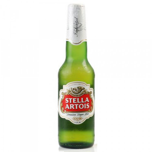 Stella Artois, 12oz bottle beer (5.2% ABV)
