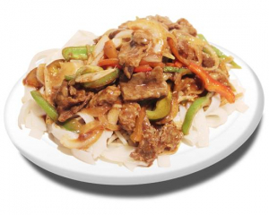 14. Rice Noodles with Beed and Satay Sauce