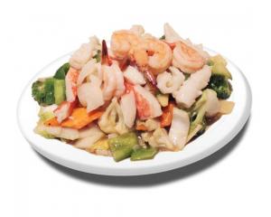 61. Stir Fried Seafood with Veggies