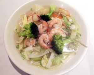 10. Vegetable Noodle Soup with Shrimp