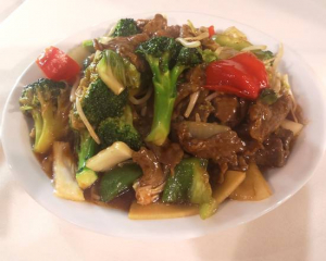 60b. Stir Fried Chicken or Beef with Mixed Veggies