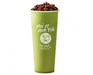 Matcha Red Bean Milk Tea