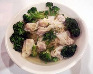9. Won Ton Soup with Noodles