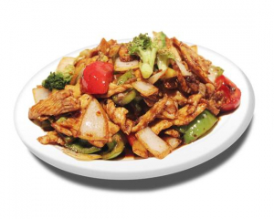 33. Spicy Chicken on Beef with Rice